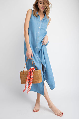 Denim Maxi Dress/Vest