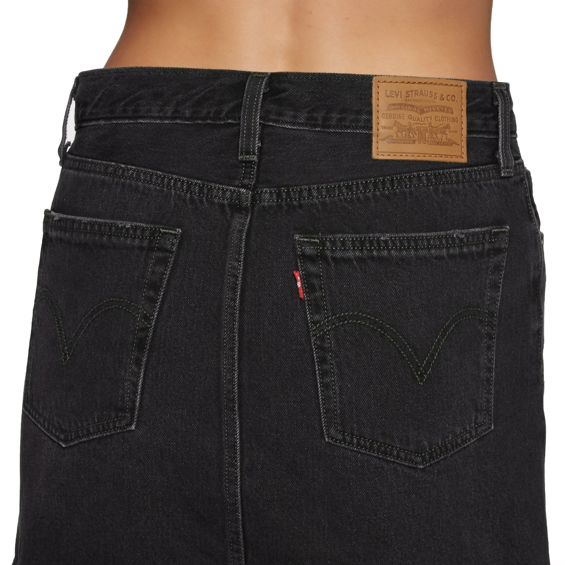 Levi's Denim Deconstructed Skirt