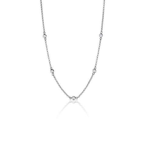 Topaz Layering Necklace | Sterling Silver