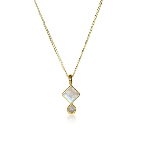Klimt Necklace | Gold Vermeil & Moonstone