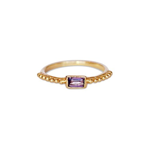 The Baguette Ring Gold Vermeil