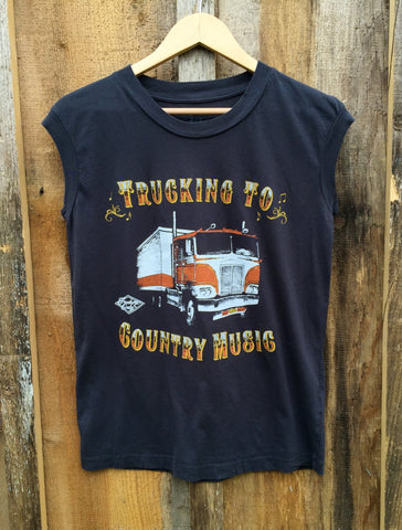Truckin To Country Muscle T