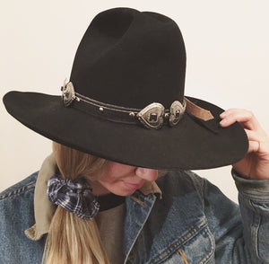 Heart Concho Hat Band
