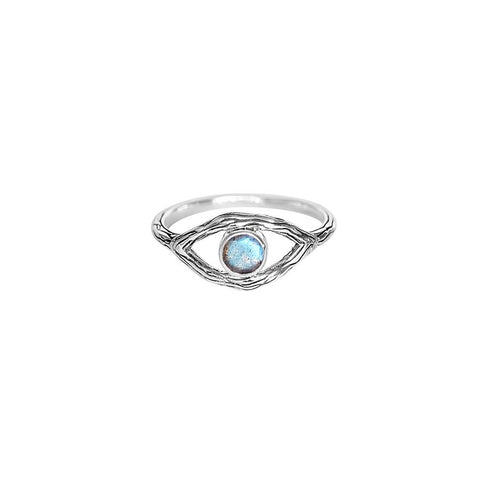 Oracle Ring | Sterling Silver & Labradorite