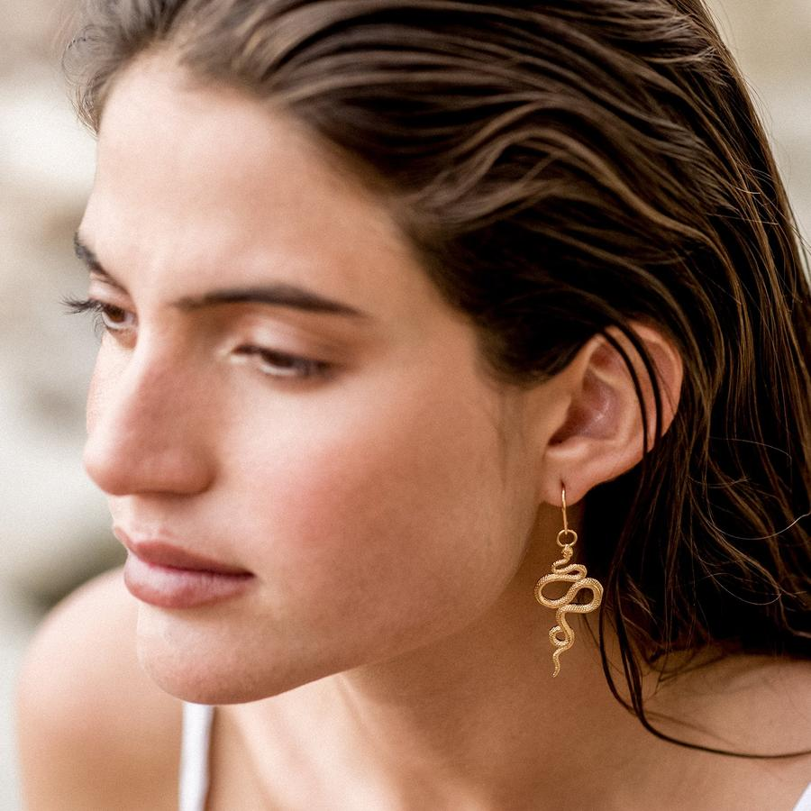 Serpent Earrings | Gold