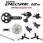 Shimano Deore 12s M6100 Groupset, 1x12, with 2 or 4 Piston Brakes - Bikecomponents.ca