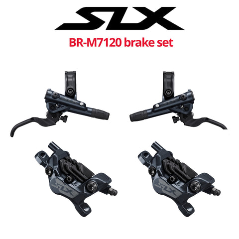 Shimano SLX BR-M7120 4-Piston Disc Brake Set, front & rear - Bikecomponents.ca