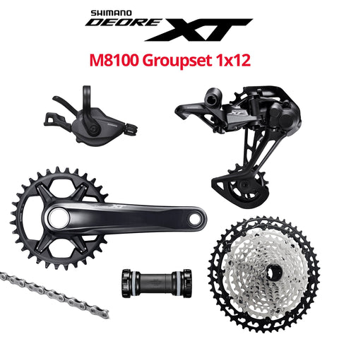 Shimano Deore XT M8100 Groupset, 1x12, with crankset - Bikecomponents.ca