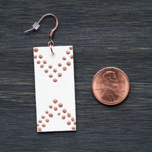 Load image into Gallery viewer, The Dreamer Dangle - Ivory & Copper Earrings