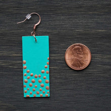 Load image into Gallery viewer, The Dreamer Dangle - Turquoise & Copper Earrings