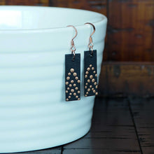 Load image into Gallery viewer, The Feisty Dangle - Black & Copper Earrings