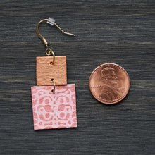 Load image into Gallery viewer, Joyful Dangles - Light Pink & Pink Gold Earrings