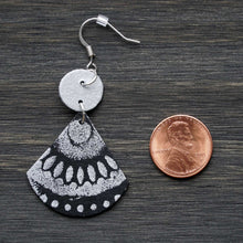 Load image into Gallery viewer, Outspoken Dangles - Black & Silver Earrings