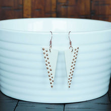Load image into Gallery viewer, The Unladylike Dangle - Ivory & Copper Earrings