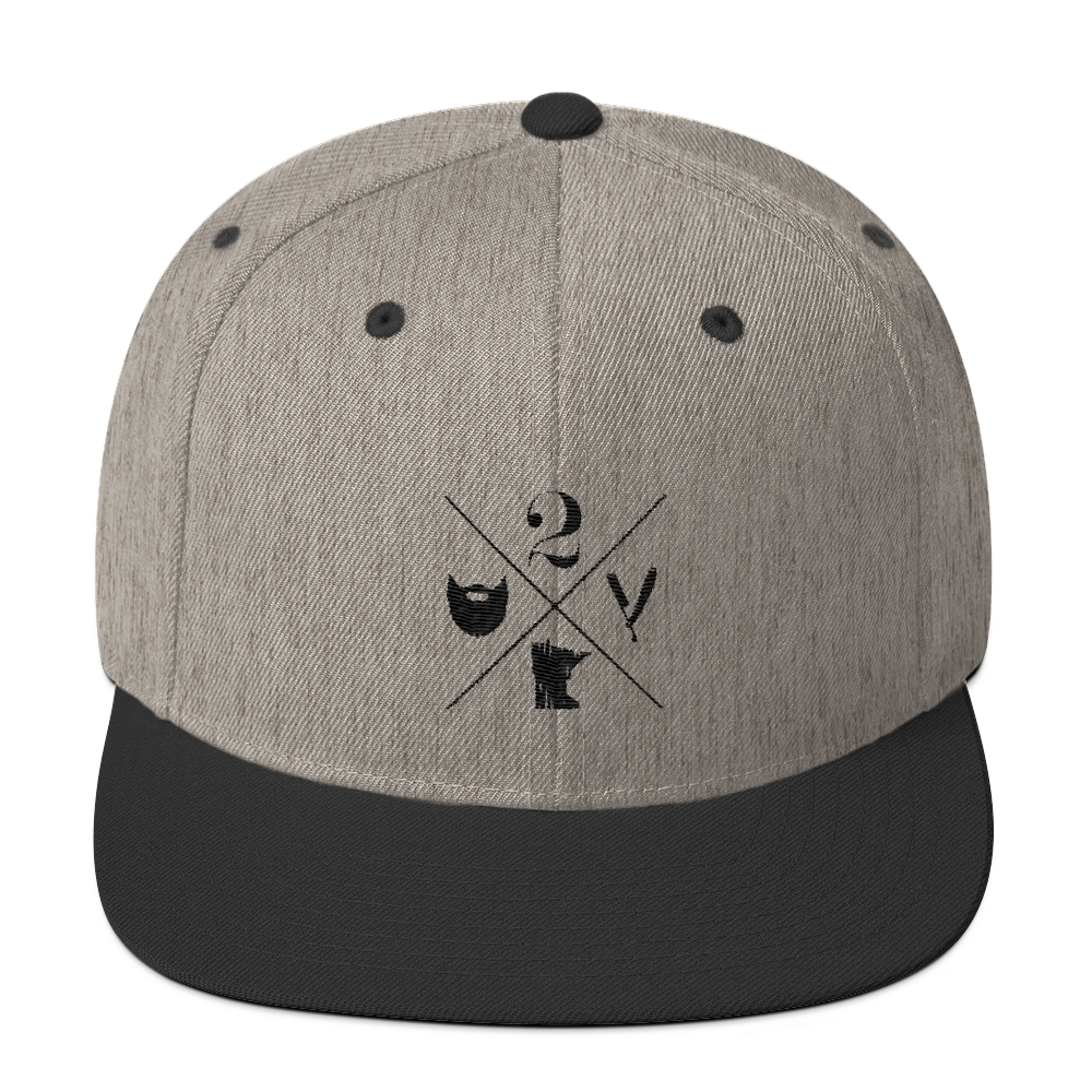 2 Bits X Logo Hat - Wool Blend Snapback - The 2 Bits Man