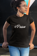 Load image into Gallery viewer, @ Peace T-shirt (Black or White) (Blue - Limited Edition)