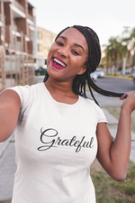 Load image into Gallery viewer, Grateful T-shirt (Black or White)