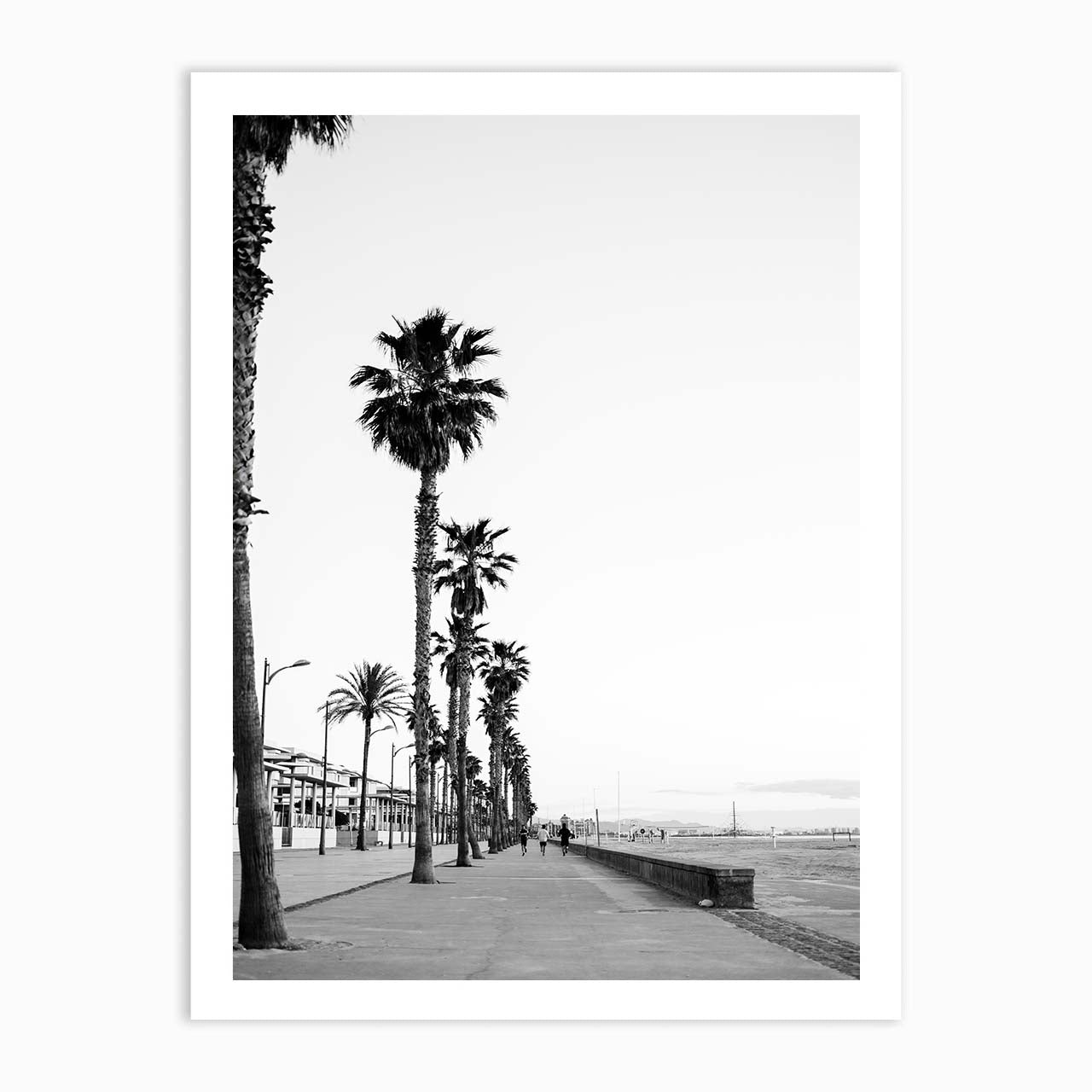 Playa de Valencia | Black and white travel print