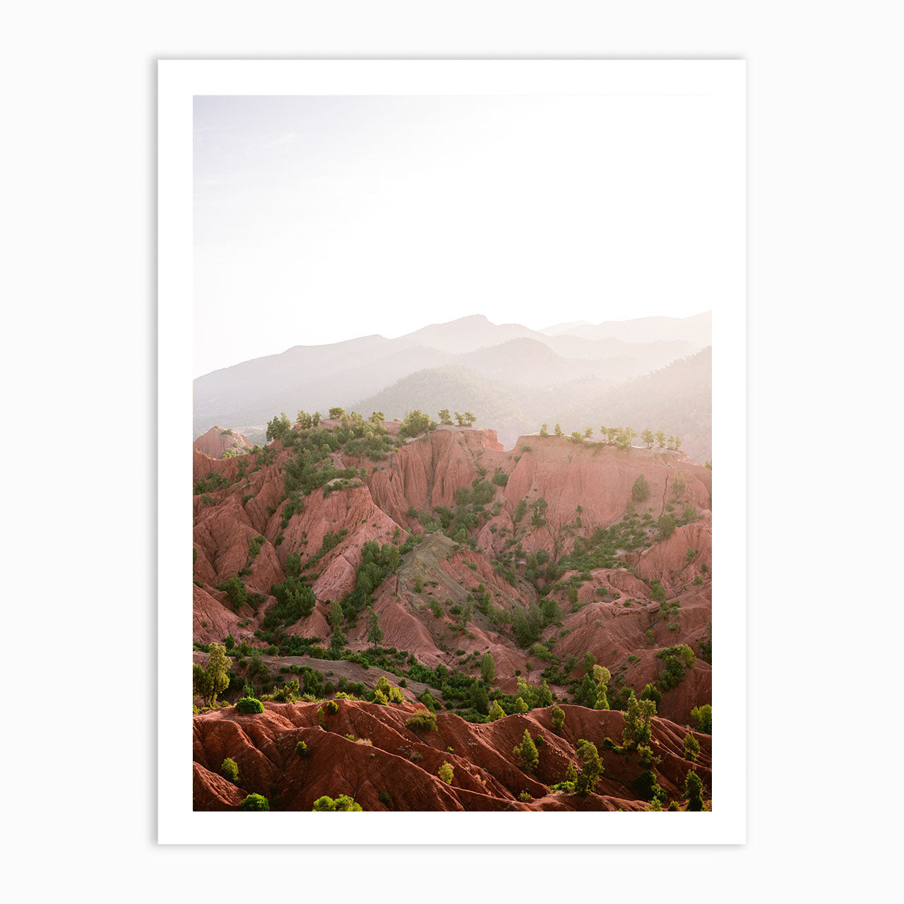 Red Atlas mountains of Ourika Morocco | Fine Art Print