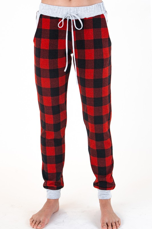 Buffalo Plaid Jogger