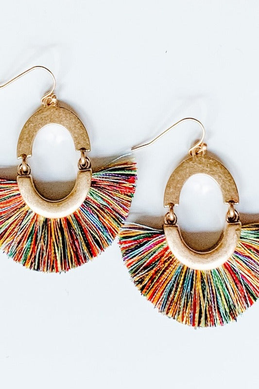 Fun Multi Color Tassel Earring
