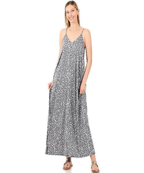 Animal Print Maxi w/Pockets