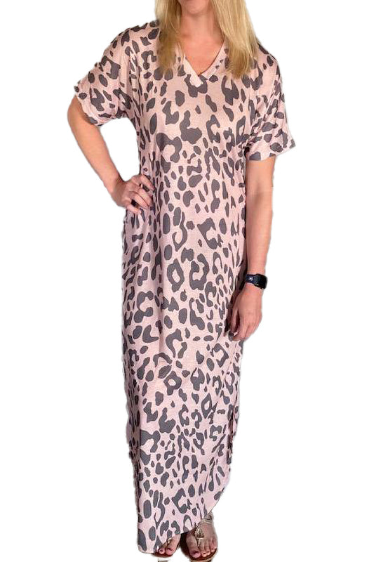 Cheetah Print Maxi Dress