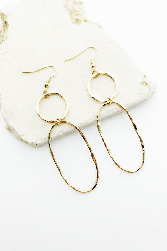 Linked Oval Earrings in Gold or Silver
