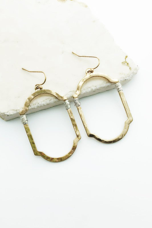 Gold Hammered Moroccan Style Earring