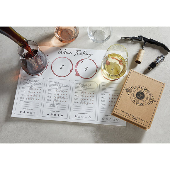 Wine Tasting Placemat - 24 Pk