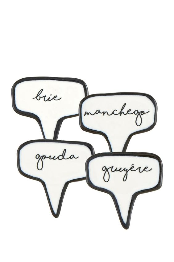 Ceramic Cheese Marker- set of 4