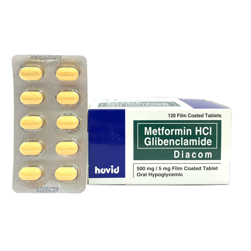 Diacom 500mg/5mg Tablet