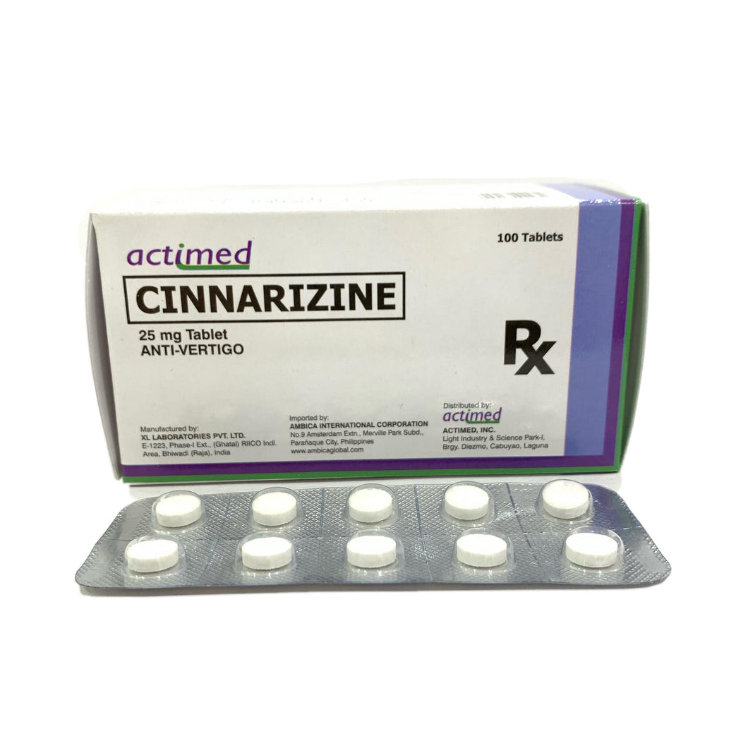 Cinnarizine (Actimed) 25mg Tablet