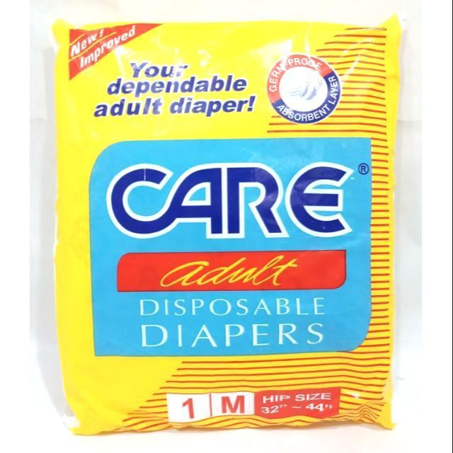 CARE ADULT DIAPER MEDIUM SINGLE