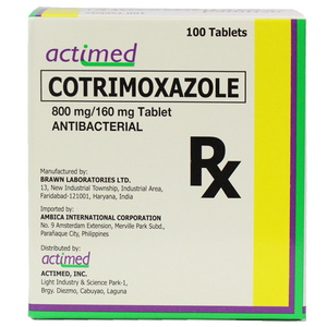 Cotrimoxazole 800mg/160mg Tablet (PRESCRIPTION REQUIRED)