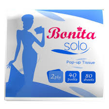 BONITA POP UP TISSUE 2 PLY 40 PULLS