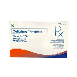 Cefixime (Flamifix) 200mg (PRESCRIPTION REQUIRED)
