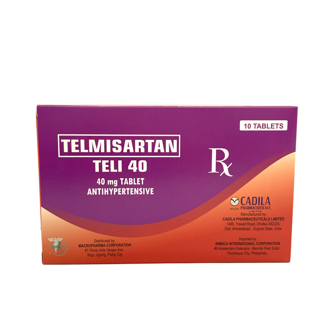 Telmisartan 40mg (Teli-40) (PRESCRIPTION REQUIRED)