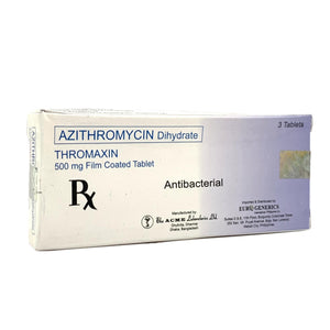 Azithromycin 500mg (Thromaxin) (PRESCRIPTION REQUIRED)