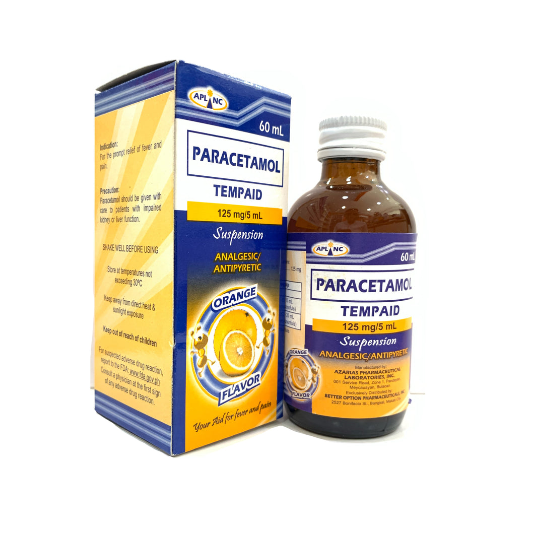 Paracetamol (Tempaid) 125mg/mL