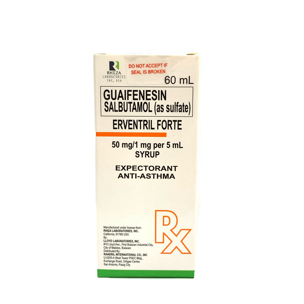 Guaifenesin + Salbutamol (as sulfate) 60mL