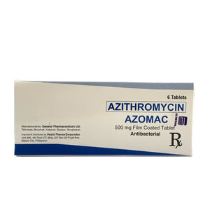Azithromycin (Azomac) 500mg (PRESCRIPTION REQUIRED)