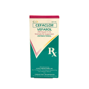 Cefaclor 250mg- 60mL suspension (PRESCRIPTION REQUIRED)