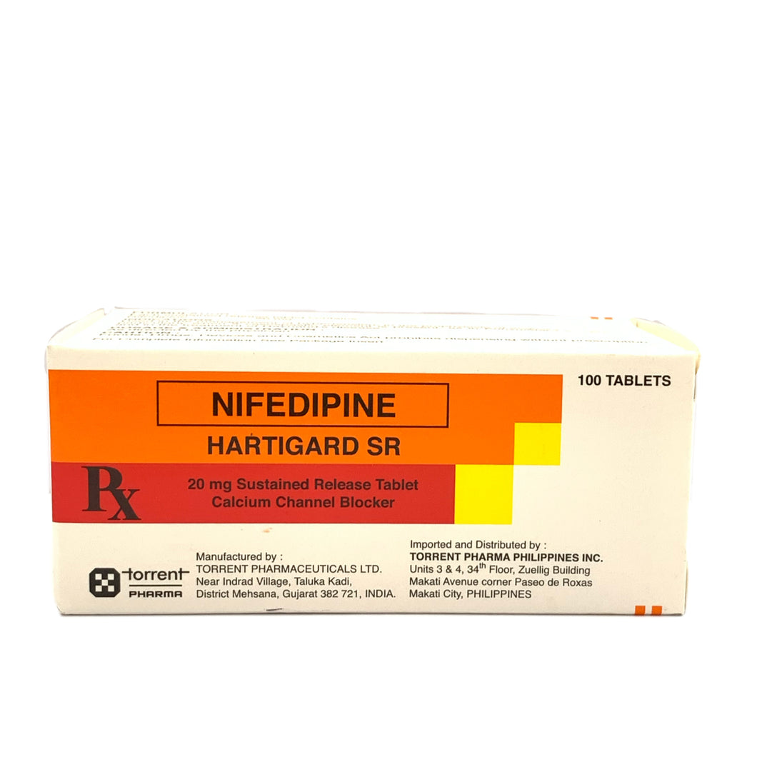 Nifedipine 20mg (Hartigard SR) (PRESCRIPTION REQUIRED)