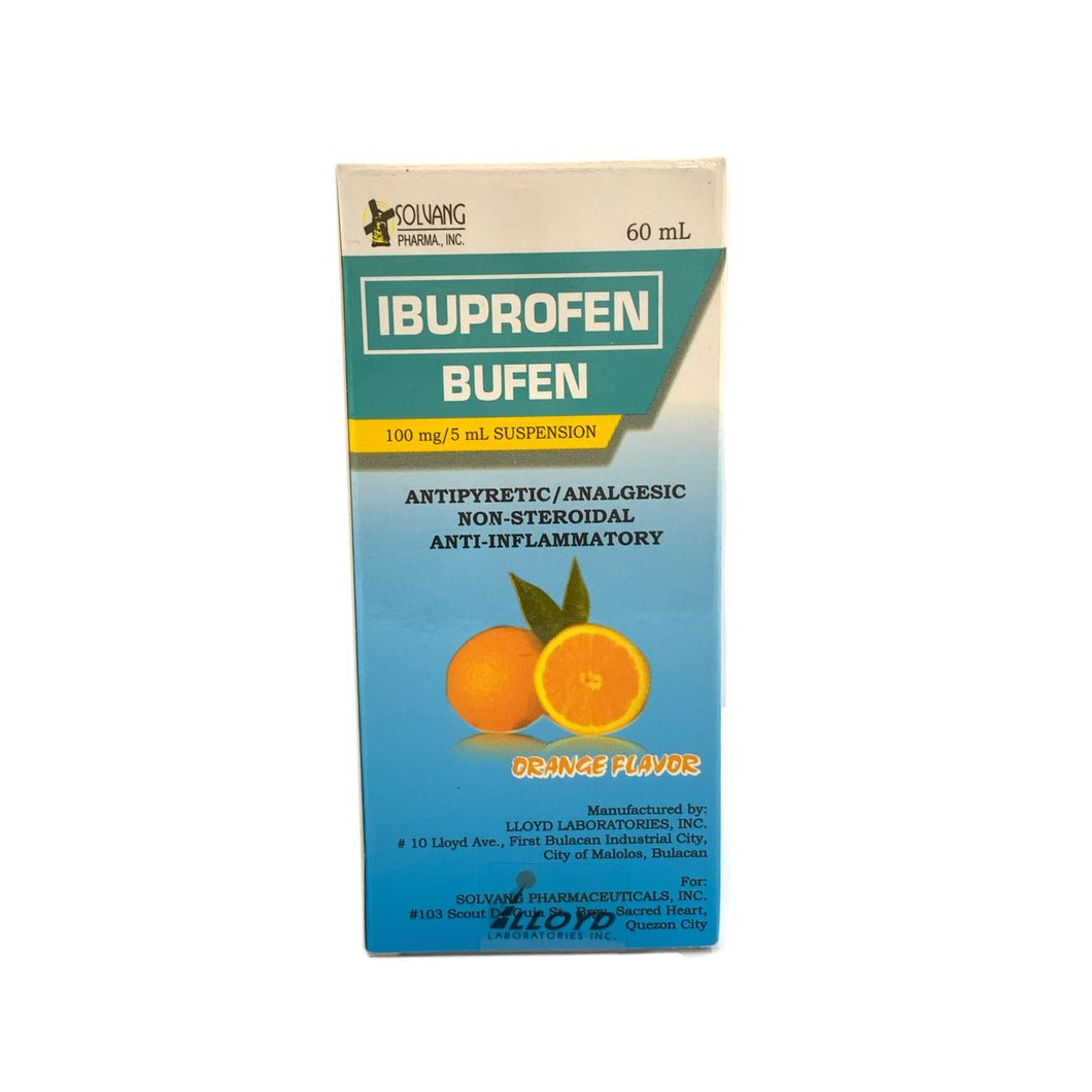Ibuprofen suspension 100mg/mL- 60mL
