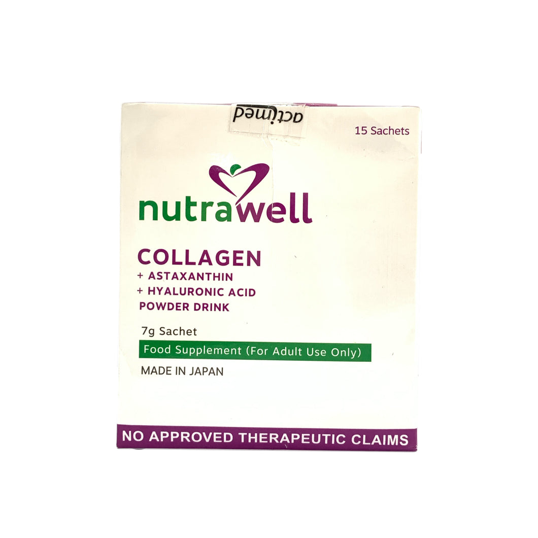 Collagen + Astaxanthin & Hyaluronic acid Powder 7G (Nutrawell)