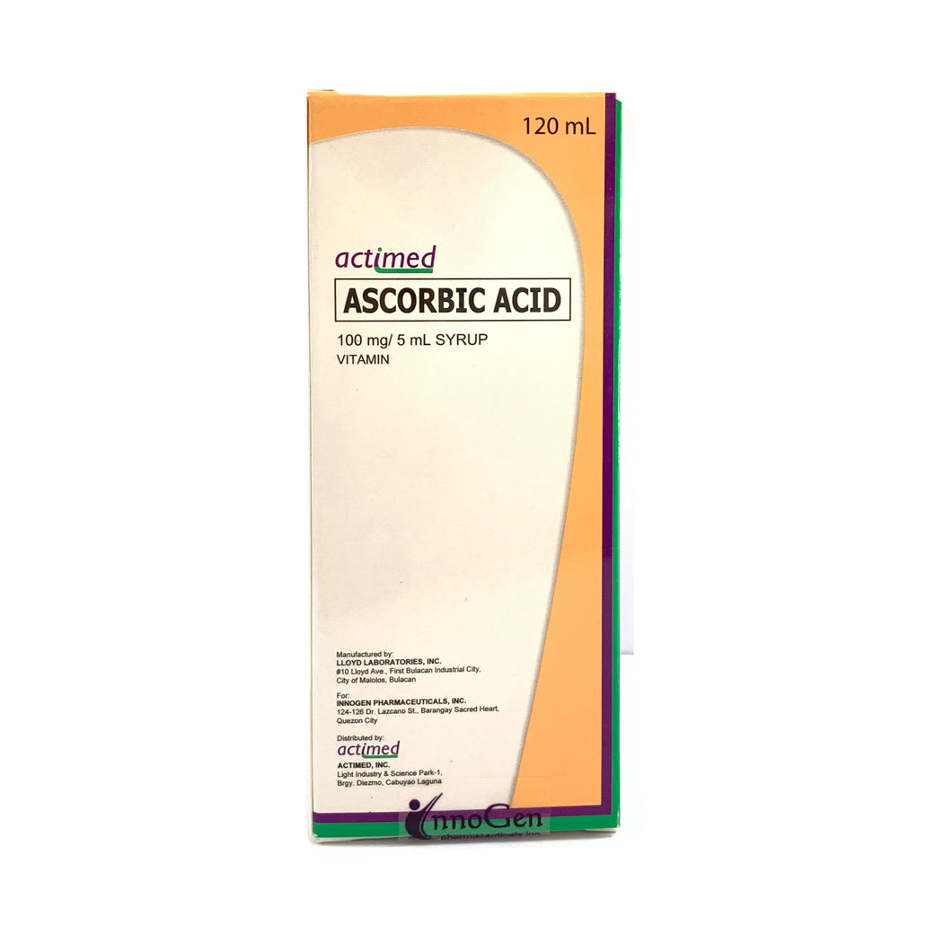 Ascorbic acid 100mg/5mL (Actimed)