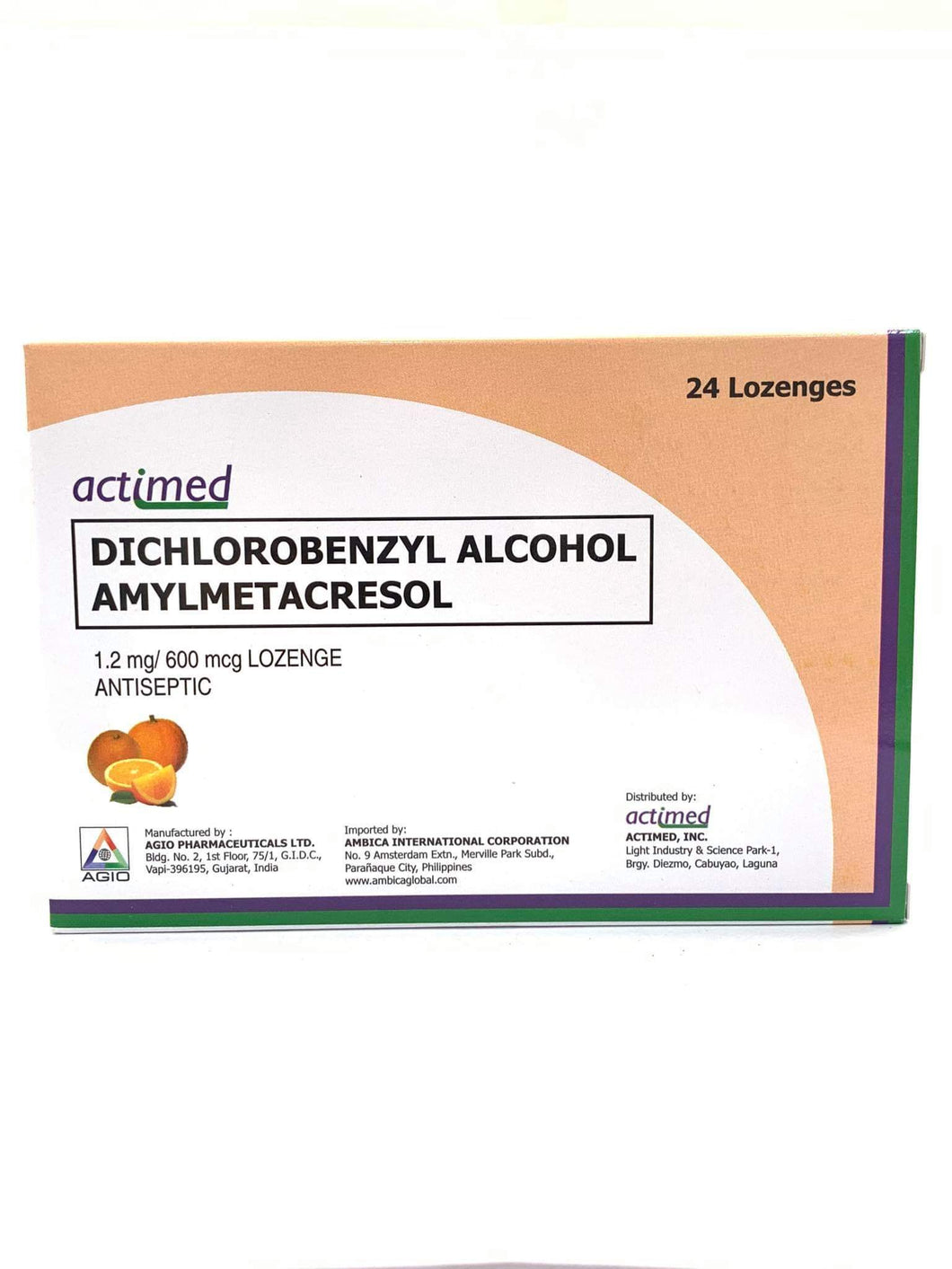 Dichlorobenzyl Alcohol + Amylmetacresol- Orange - 24s