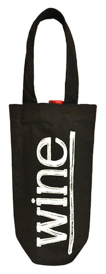 LC 0170 BK - Light-weight Canvas Bottle Carrier - Black Canvas