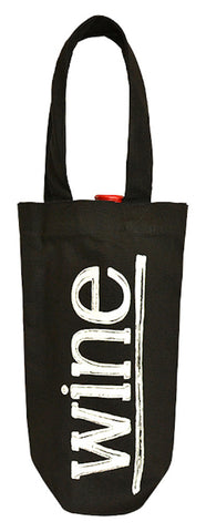 TB 0170 LC - Light-weight Canvas Bottle Carrier - Black Canvas